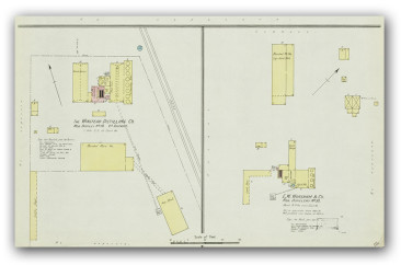 Map detail of the original E.W. Worsham Distillery, circa 1890