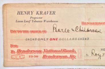Henry Kraver, proprietor of Loose Leaf Tobacco Warehouse