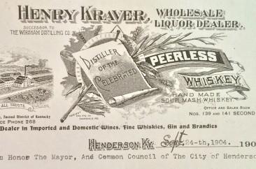 Henry Kraver official letterhead, circa 1904