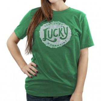 Moonshine lucky moonshine green shirt