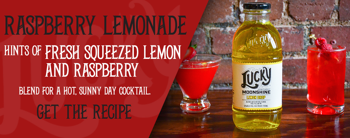 Raspberry Lemonade Moonshine Cocktail